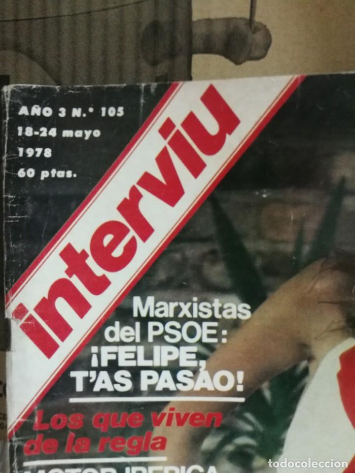 Coleccionismo de Revista Interviú: LOTE 49 REVISTAS INTERVIU ANTIGUAS - Foto 26 - 133414506
