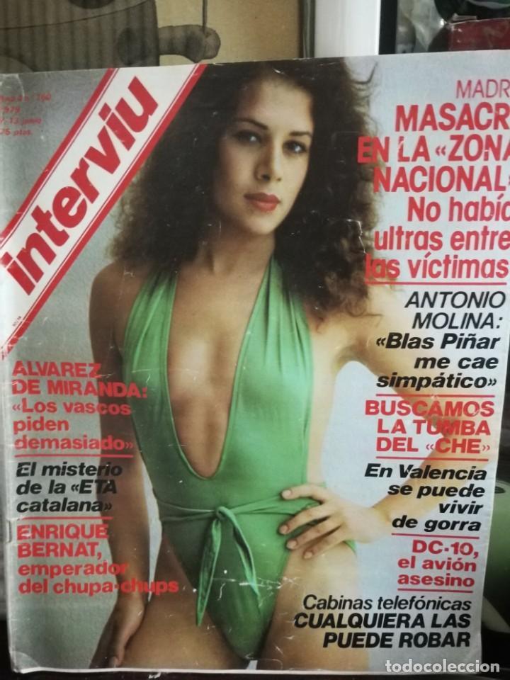 Coleccionismo de Revista Interviú: LOTE 49 REVISTAS INTERVIU ANTIGUAS - Foto 35 - 133414506