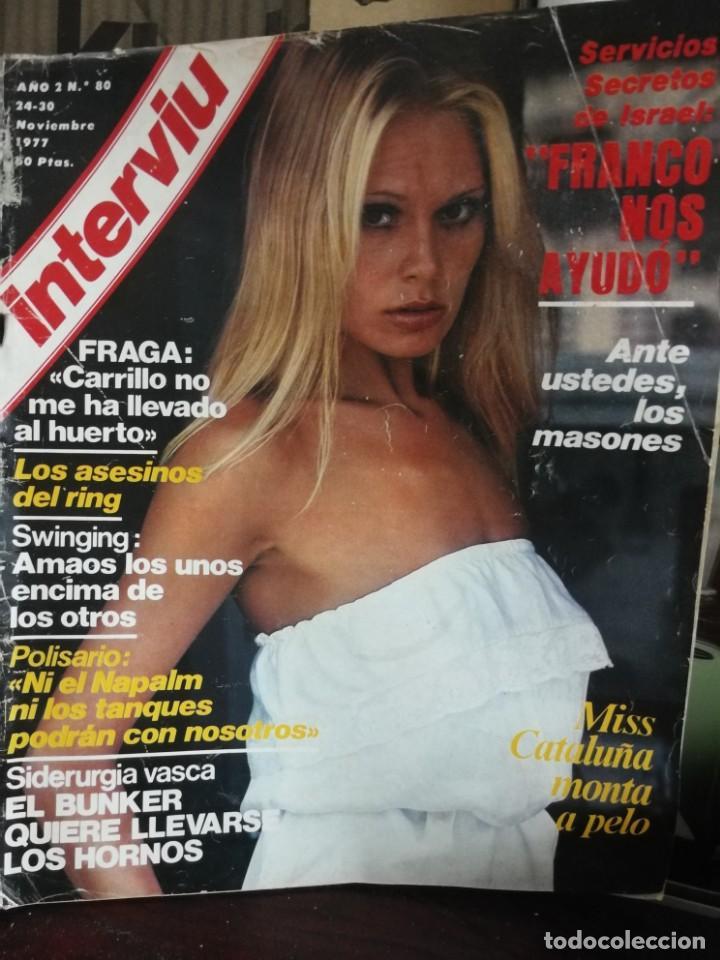 Coleccionismo de Revista Interviú: LOTE 49 REVISTAS INTERVIU ANTIGUAS - Foto 53 - 133414506