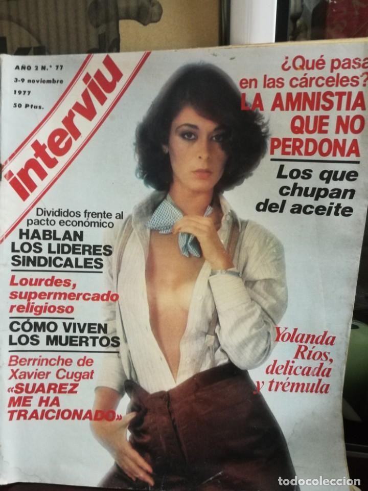 Coleccionismo de Revista Interviú: LOTE 49 REVISTAS INTERVIU ANTIGUAS - Foto 77 - 133414506