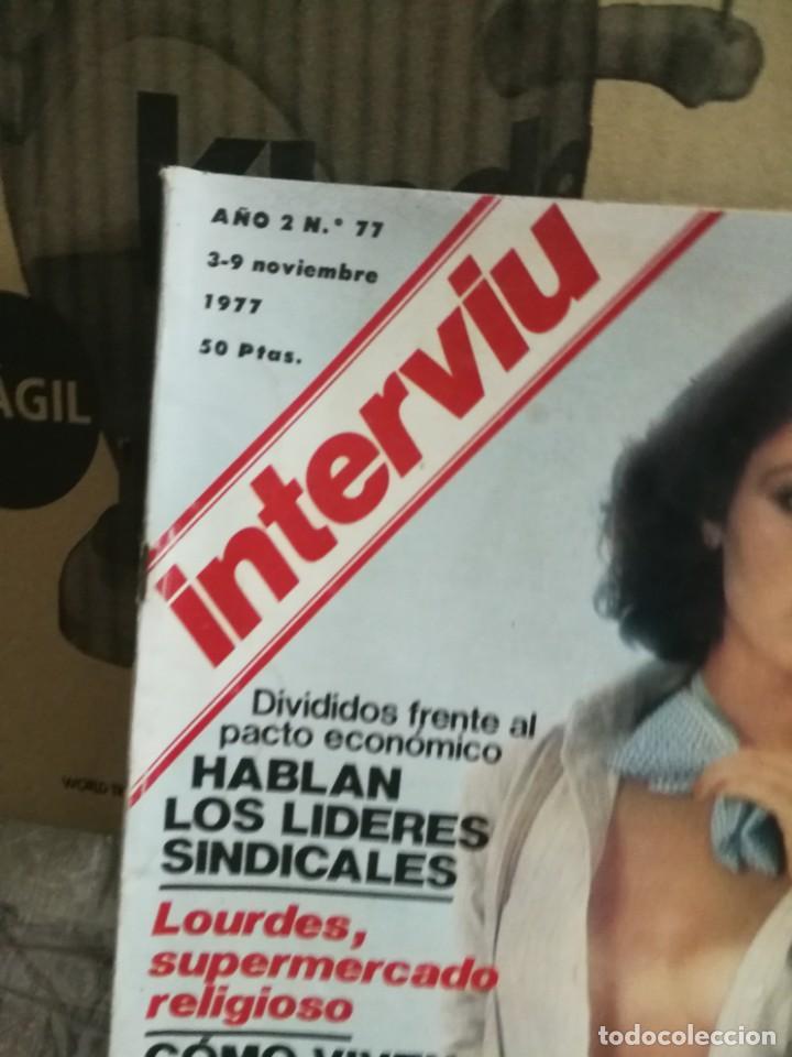 Coleccionismo de Revista Interviú: LOTE 49 REVISTAS INTERVIU ANTIGUAS - Foto 78 - 133414506