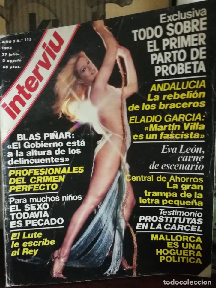 Coleccionismo de Revista Interviú: LOTE 49 REVISTAS INTERVIU ANTIGUAS - Foto 81 - 133414506