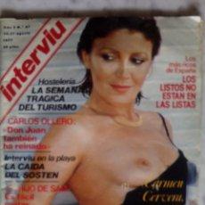 Coleccionismo de Revista Interviú: REVISTA INTERVIU - Nº 67 - 1977 - CARMEN CERVERA - ELVIS PRESLEY -. Lote 133582978