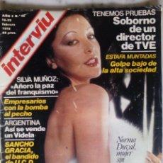 Coleccionismo de Revista Interviú: REVISTA INTERVIU - Nº 92 - 1978 - NORMA DUVAL - MARQUES DE VILLAVERDE - SANCHO GRACIA -. Lote 133606362