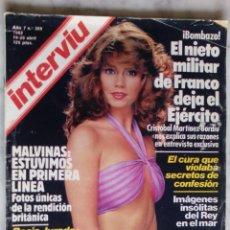 Coleccionismo de Revista Interviú: REVISTA INTERVIU - Nº 309 - 1982 - CARMEN CERVERA - ROCIO JURADO -. Lote 133624586