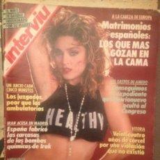 Coleccionismo de Revista Interviú: MADONNA: INTERVIU 624 ABRIL 1988 PORTADA Y REPORTAJE ,DELEITOSA-CACERES, EL SEXO EN ESPAÑA,FORGES. Lote 138544018