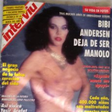 Coleccionismo de Revista Interviú: REVISTA INTERVIU - Nº 907 - BIBI ANDERSEN - JULIO IGLESIAS - ORNELLA MUTI - . Lote 139933490