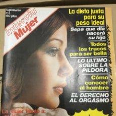 Coleccionismo de Revista Interviú: INTERVIU MUJER SUPLEMENTO Nº 2 AÑO 1976 DEDICADO A LA MUJER . Lote 139994974