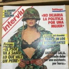 Coleccionismo de Revista Interviú: REVISTA INTERVIU MARZO 1986 FRAGA KHASHOGGI ROCIO JURADO ANTONIO GALA SPIELBERG . Lote 139995970