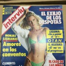 Coleccionismo de Revista Interviú: REVISTA INTERVIU Nº 512 MARZO 1986 LEGUINA CHAD GUERRA CIVIL LOLITAS. Lote 139997002