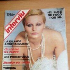 Coleccionismo de Revista Interviú: REVISTA INTERVIU Nº 31 AÑO 1 DICIEMBRE 1976 ROCIO DURCAL. Lote 141670550