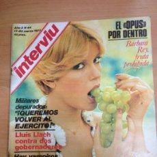 Coleccionismo de Revista Interviú: REVISTA INTERVIU Nº 44 MARZO 1977 BARBARA REY. Lote 141673810