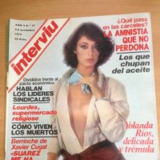 Coleccionismo de Revista Interviú: REVISTA INTERVIU Nº 77 NOVIEMBRE 1977. Lote 141679354
