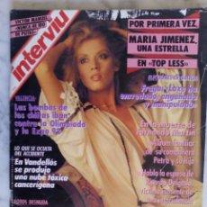 Coleccionismo de Revista Interviú: REVISTA INTERVIU - Nº 709 - MARIA JIMENEZ - VICTOR MANUEL -. Lote 143472566