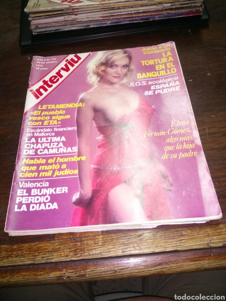 REVISTA INTERVIU N° 75 DEL AÑO 1977 (Coleccionismo - Revistas y Periódicos Modernos (a partir de 1.940) - Revista Interviú)