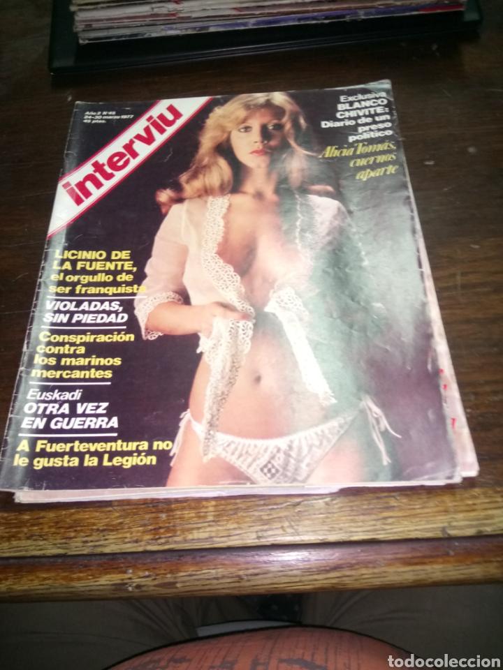 REVISTA INTERVIU N° 45 DEL AÑO 1977. (Coleccionismo - Revistas y Periódicos Modernos (a partir de 1.940) - Revista Interviú)