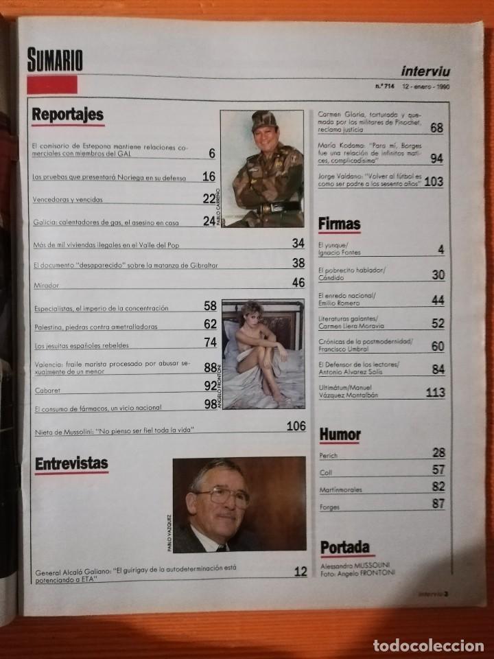 Coleccionismo de Revista Interviú: INTERVIÚ Nº 714. ALESSANDRA MUSSOLINI (PORTADA) DESNUDA. PÓSTER GIGANTE KIM BASINGER/NASTASSIA KINSK - Foto 4 - 145745966