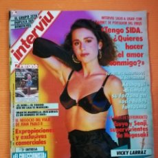 Coleccionismo de Revista Interviú: INTERVIÚ Nº 693. VICKY LARRAZ (PORTADA), MODELO EXCLUSIVA PARA EL CENTENARIO DEL SUJETADOR. Lote 145832674
