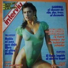 Coleccionismo de Revista Interviú: INTERVIÚ Nº 603. SABRINA (PORTADA), EL BOOM DE UN, DOS, TRES AL DESNUDO. Lote 145839150