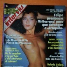Coleccionismo de Revista Interviú: INTERVIÚ Nº 673. VALERIA GOLINO (PORTADA) DESNUDA. LA CHICA DE RAIN MAN, LA PELÍCULA DE LOS ÓSCAR. Lote 146527230