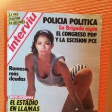 Coleccionismo de Revista Interviú: INTERVIÚ Nº 471. EMMA SUÁREZ, DESNUDO EN LANZAROTE. Lote 146530702