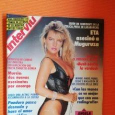Coleccionismo de Revista Interviú: INTERVIÚ Nº 786. ÁNGELA CAVAGNA, ITALIANA UNIVERSAL, DESNUDÍSIMA. Lote 146538814