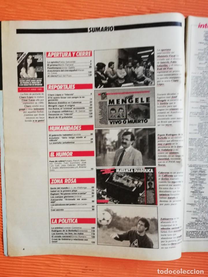 Coleccionismo de Revista Interviú: INTERVIÚ Nº 475. CHARO LÓPEZ (PORTADA) QUISO METER EN PRISIÓN AL DIRECTOR Y UN REDACTOR DE INTERVIU - Foto 2 - 146543334