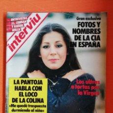Coleccionismo de Revista Interviú: INTERVIÚ Nº 476. LA PANTOJA (PORTADA) HABLA CON EL LOCO DE LA COLINA. Lote 146543946