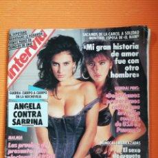 Coleccionismo de Revista Interviú: INTERVIÚ Nº 712. ÁNGELA CONTRA SABRINA (PORTADA) GUERRA CUERPO A CUERPO. Lote 146554622