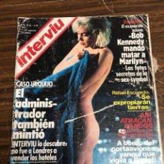 Coleccionismo de Revista Interviú: *REVISTA INTERVIU 379* REPORTAJE MARILYN MONROE, FOTO DEL CADAVER ,SUS AMORES CON LOS KENNEDY. Lote 147245846