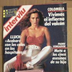 Coleccionismo de Revista Interviú: REVISTA INTERVIU Nº 498 NOVIEMBRE 1985 LLUCH COLOMBIA RUMASA NATHALIE . Lote 147510226