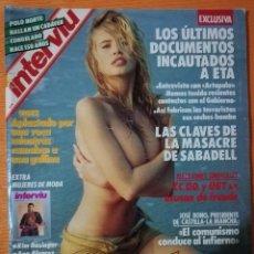 Coleccionismo de Revista Interviú: INTERVIÚ Nº 763. CLAUDIA SCHIFFER, LA MODELO MÁS BELLA DE CHANEL. INCLUYE EXTRA MUJERES DE MODA. Lote 149588706