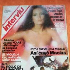 Coleccionismo de Revista Interviú: INTERVIÚ Nº 172. MARÍA JOSÉ CANTUDO (PORTADA) Y PEDRO RUIZ CON LAS MANOS EN LA MASA. Lote 149725070