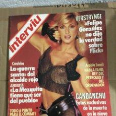 Coleccionismo de Revista Interviú: REVISTA INTERVIU Nº 455 ENERO 1988 MARIA ASQUERINO CANDANCHU REY FAHD . Lote 151555314