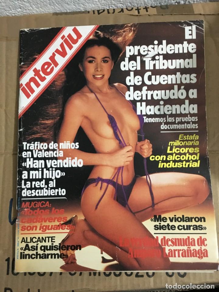 REVISTA INTERVIU Nº 408 MARZO 1984 AMPARO LARRAÑAGA (Coleccionismo - Revistas y Periódicos Modernos (a partir de 1.940) - Revista Interviú)