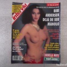 Coleccionismo de Revista Interviú: REVISTA INTERVIU 1993. BIBI ANDERSEN CAMBIO DE SEXO, NIÑOS MALTRATADOS, ORNELLA MUTI, EL SIDA . Lote 151574646