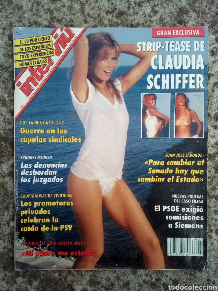 REVISTA INTERVIÚ CLAUDIA SCHIFFER (Coleccionismo - Revistas y Periódicos Modernos (a partir de 1.940) - Revista Interviú)