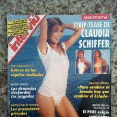 Coleccionismo de Revista Interviú: REVISTA INTERVIÚ CLAUDIA SCHIFFER. Lote 152351905