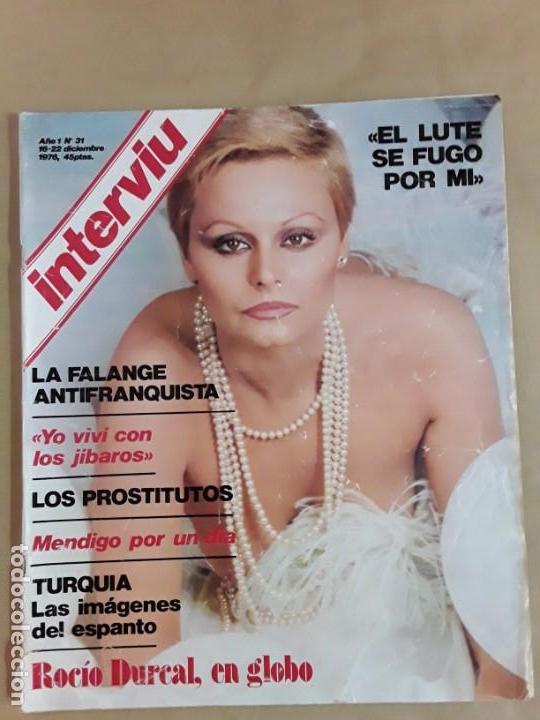 Coleccionismo de Revista Interviú: Lote revistas interviú,n°3,5,6,8,9,10,12,13,14,15,16,19,20,21,26,28,31,34,36,38,año 1976/1977 - Foto 9 - 153527282
