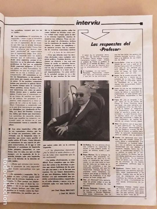 Coleccionismo de Revista Interviú: Lote revistas interviú,n°3,5,6,8,9,10,12,13,14,15,16,19,20,21,26,28,31,34,36,38,año 1976/1977 - Foto 24 - 153527282