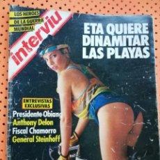 Coleccionismo de Revista Interviú: INTERVIÚ Nº 469 MARIBEL VERDÚ (PORTADA). ETA QUIERE DINAMITAR LAS PLAYAS. Lote 155843758