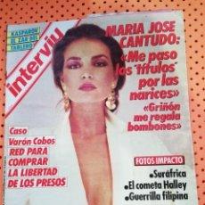 Coleccionismo de Revista Interviú: INTERVIÚ Nº 495 MARÍA JOSÉ CANTUDO(PORTADA) ME PASO LOS TÍTULOS POR LAS NARICES.. Lote 156315586