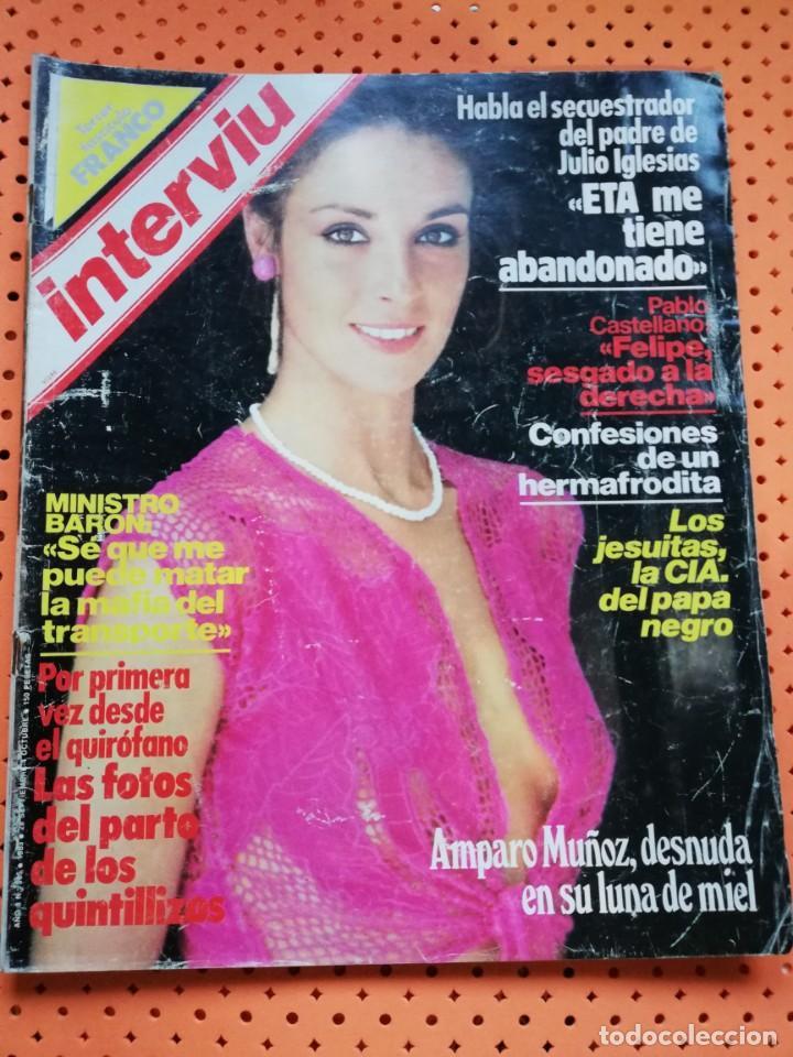 Interviú Nº 385 Amparo Muñoz Portada Desnuda En Su Luna De Miel