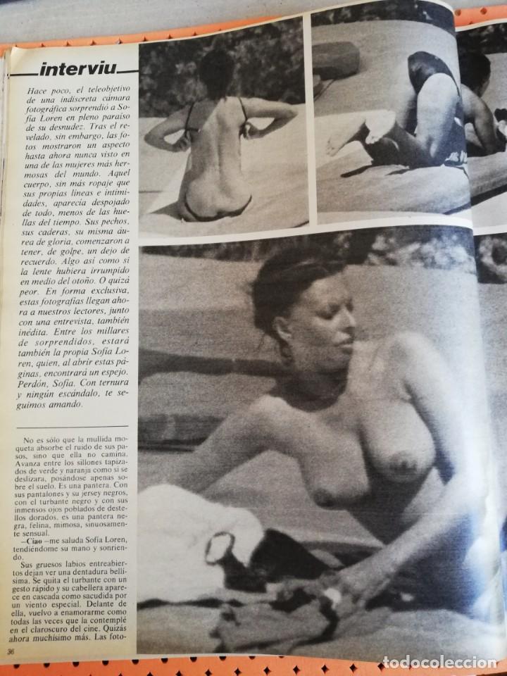 Interviú Nº 170 Sofía Loren Portada Desnuda 8 Páginas De Fotos Sorprendentes