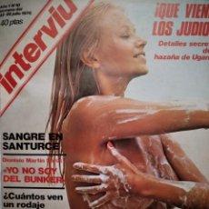 Coleccionismo de Revista Interviú: COMPILACIÓN ENCUADERNADA DE 10 EJEMPLARES DE INTERVÍU. Lote 157293048