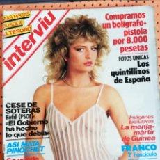 Coleccionismo de Revista Interviú: INTERVIÚ Nº 384. LOLA FLORES, DESNUDA. INCLUYE PÓSTER. JENNIFER BEALS (DESNUDA) FLASHDANCE. Lote 157403346
