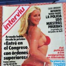 Coleccionismo de Revista Interviú: INTERVIÚ Nº 389. DESNUDAMOS A LAS CHICAS DEL UN, DOS, TRES. Lote 157409474