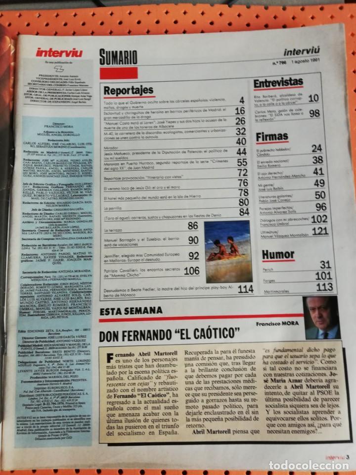 Coleccionismo de Revista Interviú: INTERVIÚ Nº 796. PATRIZIA CAVALLIERI, MAMMA CHICHO, PECHOS FUERA - Foto 2 - 157425622