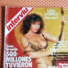 Coleccionismo de Revista Interviú: INTERVIÚ Nº 387. LAURA ANTONELLI (PORTADA), VAYA MUJER. ROCÍO JURADO. Lote 158144658