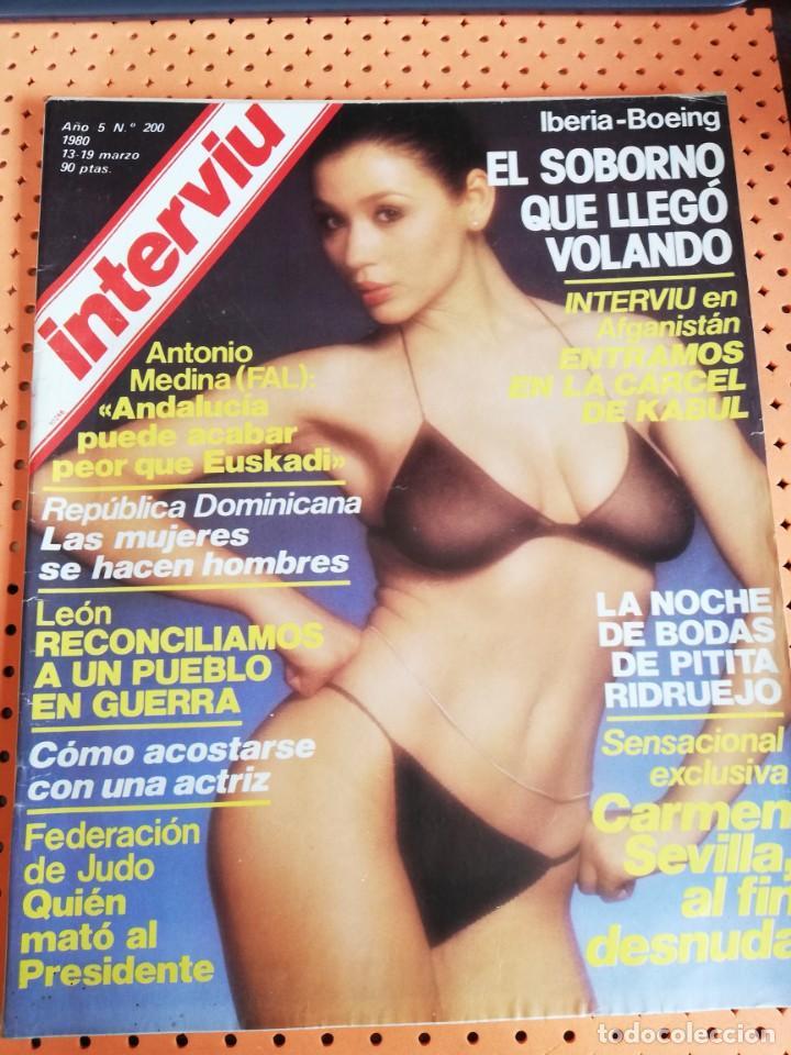 Interviú Nº 200 Carmen Sevilla Al Fin Desnuda Señoritas De Alta Compañía